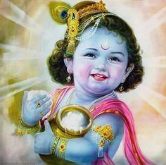 Aww that smile😍😘 Krishna Hindu, Krishna Leela, Krishna Statue, Jai Shree Krishna, Cute Krishna, Lord Krishna Images, Radha Krishna Pictures, Krishna Radha, Krishna Photos