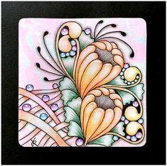 Zentangle Patterns, Zentangles, Zen Doodle, Doodle Art, Easy Drawings, Pencil Drawings, Tangled, Colouring, Doodles