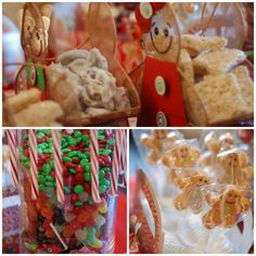 Treats at a Gingerbread Decorating Party #gingerbread #partytreats
