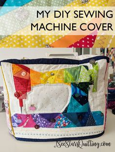 How cute is this DIY Sewing Machine Cover? She even lists … How cute is this DIY Sewing Machine Cover? Sewing Hacks, Sewing Tutorials, Sewing Tips, Sewing Ideas, Sewing Crafts, Sewing Designs, Leftover Fabric, Love Sewing, Sewing Projects For Beginners