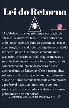 Cabala Prática. Lei do Retorno. Magia. Hermetismo. Esoterismo. Filosofia Mística. Monge Rosacruz. Daily Thoughts, Just Believe, Carpe Diem, Wicca, Words Quotes, Reiki, Namaste, Sentences, Psychology