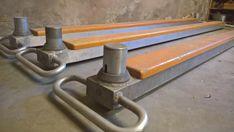 Oude gymmaterialen : evenwichtsbalk als boekenplank / vensterbank. Of gewoon om te gebruiken!
