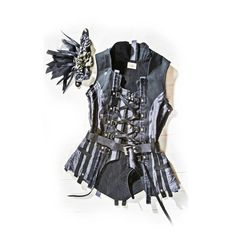 Love the look of this when it's on an actual form. Could easily go extremely goth, or sleak and refined, depending on the rest of the outfit. $585