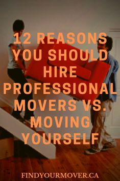 We look at 12 reasons you should hire professional movers vs. moving yourself. Save time, money and effort by hiring professionals. Professional Movers, Moving Tips, Effort, Money, Reading, Moving Hacks, Word Reading, The Reader, Reading Books