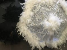 Second Line Umbrellas Bride Groom, 2 second line parade umbrellas silver BLING! Wedding umbrellas, personalized with ribbon, Parasol