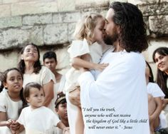 god loves his little children | People were bringing little children to Jesus for him to place his ...