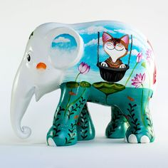Elephant Parade Webshop - Be part of it! The Elephant and the Cat - All elephants - Elefanten