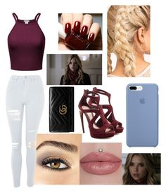 """""""Emily forbes"""" by skyler-musick ❤ liked on Polyvore featuring Alexander McQueen, Avon, Topshop and Gucci"""