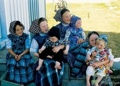 Happy, healthy, beautiful Hutterite children.