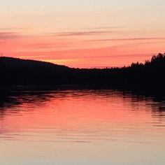 Ok repris men nog är det rätt fint? #nofilter #sunset #norrland