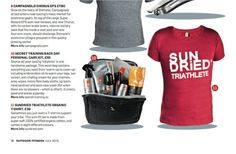 Secret Training and SUNDRiED feature side-by-side in Outdoor Fitness mag.