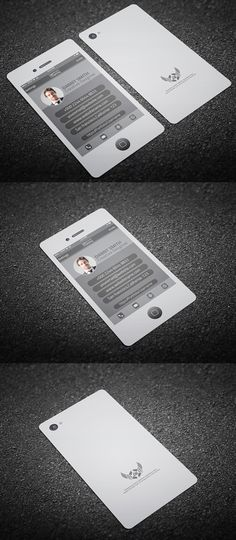 A Unique IPhone Business Card Design For The Techsavvy Individual - Iphone business card template