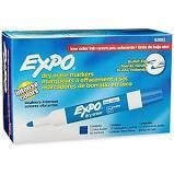 Expo Low Odor Dry Erase Markers, Chisel Point, Blue, Dozen