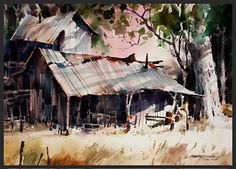 Another Man's Treasure by sterling edwards Watercolor ~ 22 x 30