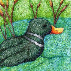 Duck in Pointillism by usagininja on DeviantArt Art Lessons Online, Third Grade Art, Dotted Drawings, Stippling Art, School Painting, Library Art, Dot Art Painting, Galaxy Art, High Art
