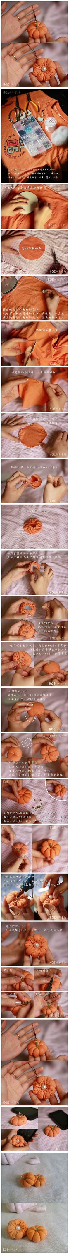 How to make Pumpkin like custom Christmas ornaments with T-Shirt step by step DIY tutorial instructions / How To Instructions