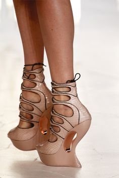 Alexander McQueen  Spring 2012  Hideous, who wears these ??