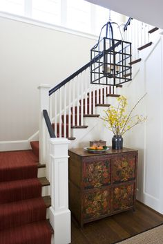 Staircase Detail  Staircase  Shingle Style  TraditionalNeoclassical by Anne Decker Architects