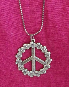 Peace Sign Necklace Hippie Boho and Funky