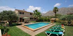 Mallorca Urlaub für 8 Personen auf einer privat Finca bei Pollenca mit Pool und Klimaanlage.
