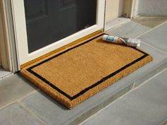 KEMPF 1822 18 in. x 30 in. Border Coco Coir Doormat - Heavy Duty Doormats - Black by KEMPF. $28.50. Our cocomats are made only with the best coconut fibers imported from India. Ink for the design is imprinted deep within the coco fibers of the mat to ensure a long lasting and vibrant design. Classic Border Design in Black. 100% All-Natural Coco Fiber. Deeply dyed for a long lasting crisp image. Traps Dirt and Moisture. Biodegradable; Long Lasting; Heavy Duty. Col...