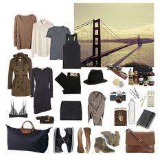 San Francisco - what to wear Travel Capsule, Travel Wear, Travel Packing, Travel Style, Packing Tips, Travel Pro, Weekend Packing, Vacation Packing, Travel Wardrobe