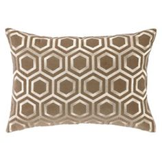 DL Rhein Hexagon Light Brown Velvet Pillow