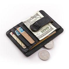 83710025c114 Зажим для денег Teemzone K850 Black Визитница, Кожаные Изделия Для Мужчин,  Кожаные Кошельки