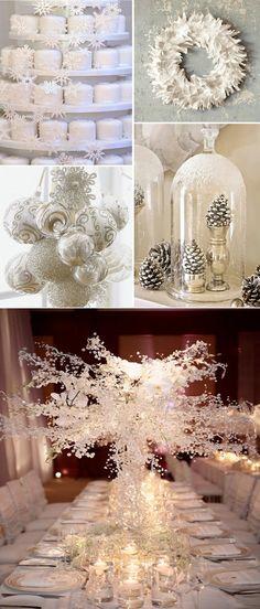 Boda blanca en invierno-decoración/White winter wedding-decoration
