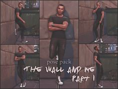 The Wall and Me Pose Pack de KatVerseCC 1