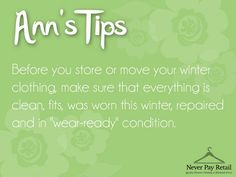 I think we're all grateful that winter *might* be over here in Colorado. But before you put your winter clothes into storage, be sure to do this.