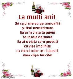 Felicitari de La multi ani - La multi ani! Birthday Wishes, Birthday Cards, Happy Birthday, An Nou Fericit, Emoticon, Kids And Parenting, Motto, Funny Texts, Life Quotes