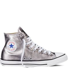 Converse Chuck Taylor All Star Metallic – gunmetal Sneakers CAD) ❤ liked… - Shoes Outfits With Converse, Converse Style, Converse Shoes, Converse Trainers, Custom Converse, Shoes Sneakers, Jean Outfits, Converse Chuck Taylor All Star, Converse All Star