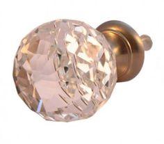 Glass knob - vintage
