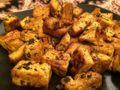 Crispy Masala Tofu - A few Indian spices is all it takes to elevate the humble tofu to a whole other level.
