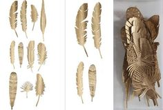 Golden Feathers Set of 22
