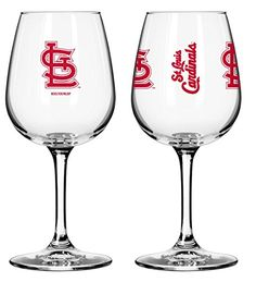 MLB Baseball St Louis Cardinals 12oz Game Day Wine Glass Set of 2 Glasses ** Want additional info? Click on the image.  This link participates in Amazon Service LLC Associates Program, a program designed to let participant earn advertising fees by advertising and linking to Amazon.com.