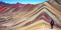 Cusco Private Full-Day Trek to The Rainbow Mountain in Peru South America Machu Picchu, Bergen, Monuments, Colorful Mountains, Rainbow Mountains, Mountain Bike Tour, Mountain Range, Les Continents, Look Alike