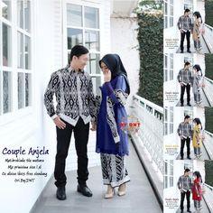 Setelan model Baju Batik Couple Kebaya Sarimbit Kombinasi Selendang Tile Mutiara Batik Couple, Couples, Model, Scale Model, Couple, Models, Template, Pattern