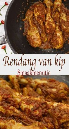 Rendang van kip Best Picture For meatless asian recipes For Your Taste You are looking for something, and it is going to tell you exactly what you are looking for Vegetarian Recipes Easy, Lunch Recipes, Asian Recipes, Healthy Recipes, Ethnic Recipes, Comfort Food, Indonesian Food, Food Preparation, Chicken Recipes