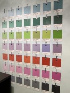 great idea for meeting with brides & other clients PANTONE