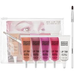 Obsessive Compulsive Cosmetics Pro's Picks Lip Tar Set v2.0. What it does:A fabulous new innovation in lip color, OCC Lip Tar combines the longevity of a lipstick with the easy application of a gloss, delivering an opaque and comfortably long-wearing finish. These spring colors are ready-to-wear or can be mixed, depending on your mood.This set contains:- 5 x 0.33 oz Lip Tar in Kava Kava (medium peach), Lydia (darkroom plum), Hoochie (vibrant magenta), Pretty Boy (super-rich fuchsia), Iced...