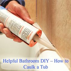 If you are redoing your bathroom or you just want to clean it up a bit to remove mold and mildew, you can actually caulk the tub yourself and save the cost of having a professional do it.