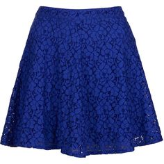 TOPSHOP Indigo Lace Skater Skirt... I kind of want this in every color it comes in <3
