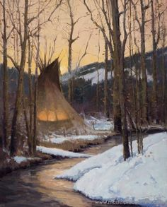John DeMott - Silence of Winter - Oil kp