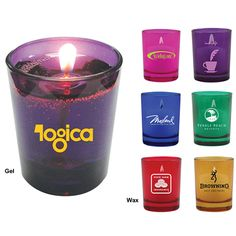 Need another GREAT idea for your wedding? Set the romantic mood with these great frosted glass candles! Promotional 2.0 oz. Votive Scented Colored Round Candle | Customized Candles | Advertising Candles