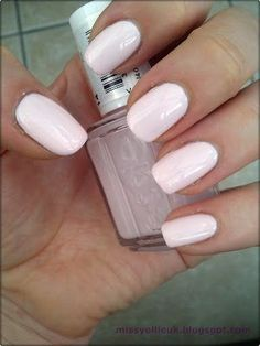 Essie Fiji. Love this. For when you still want a very pretty color that's not super bright. I don't have any problems with the formula on this one. Very light pink.