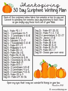 Thanksgiving Printable Scripture Sheet