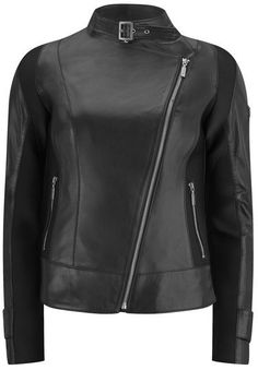 Pin for Later: You'll Want to Act Fast to Grab These Last-Minute Summer Sale Bargains Barbour International Women's Wing Mid Leather Jacket Black Barbour International Women's Wing Mid Leather Jacket Black (£250, originally £499)