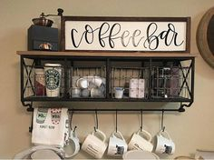 Coffee bar sign coffee bar coffee sign coffee coffee bar kitchen coffee station #affiliate